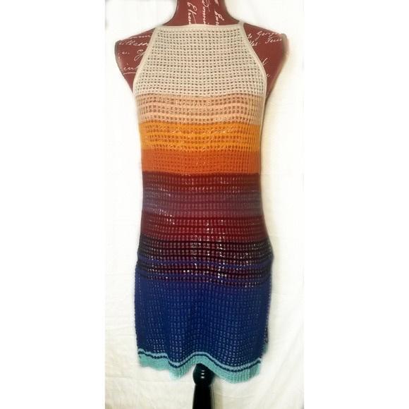 NWOT Free People Knit Color Block Tank Dress